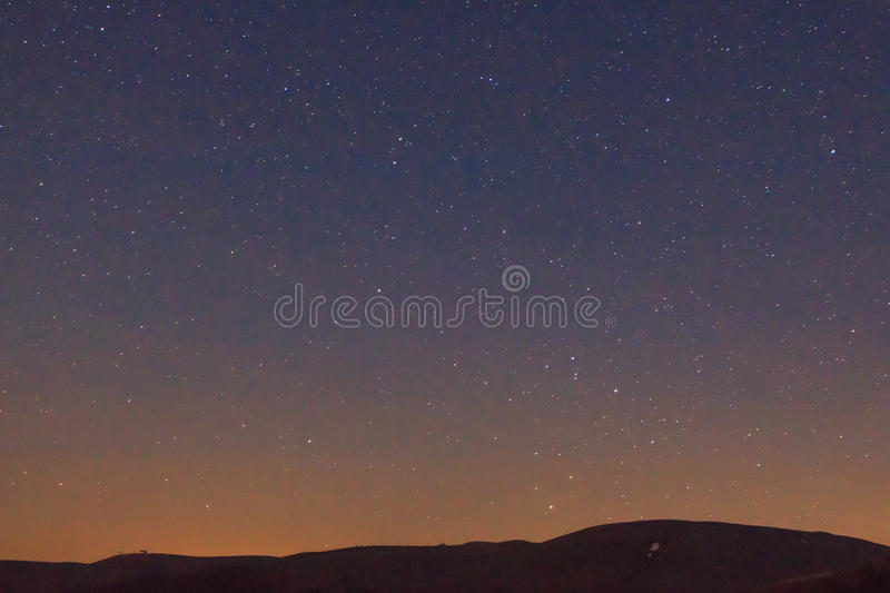 Nocturne from the ski slopes of La Molina.  royalty free stock photo