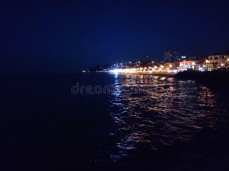 Nocy światła fotografia stock