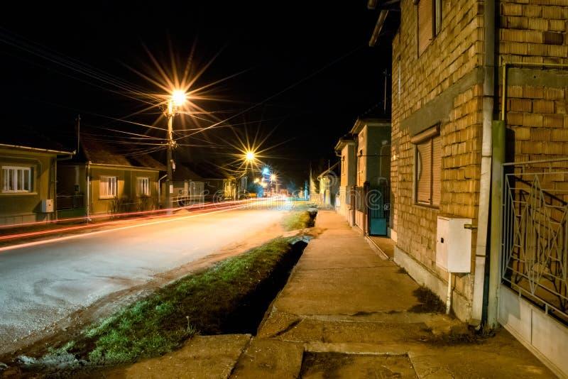 Nocy światła na ulicie obraz royalty free