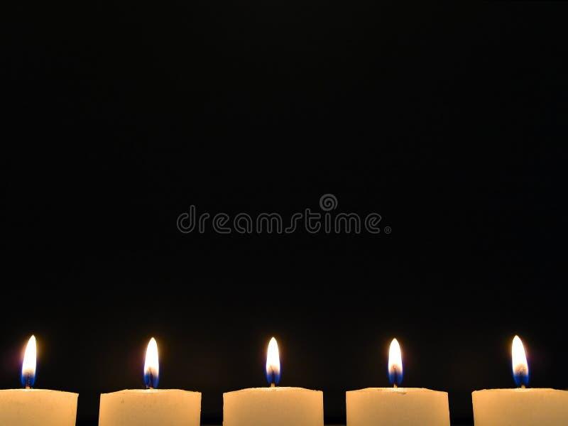 nocy świece. obrazy stock