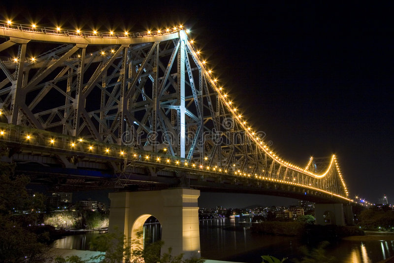 nocy bridge historię obrazy stock