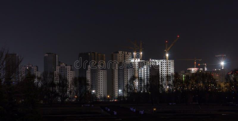 Nocy budowa obrazy royalty free