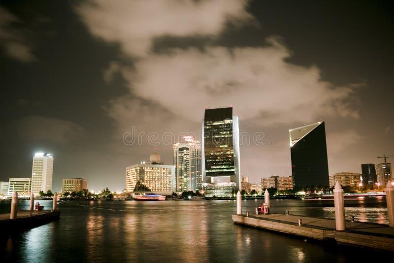 nocy dubaju widok zdjęcia stock
