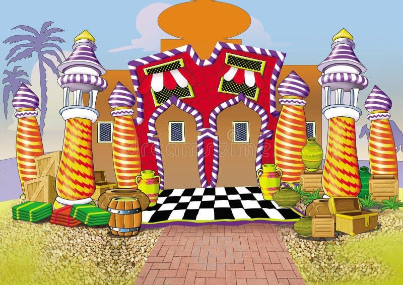 1001 nocy fasada 2 royalty ilustracja