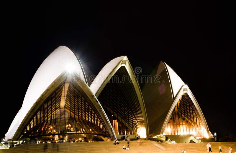 Nocy fotografia opera w zakończeniu zdjęcia stock