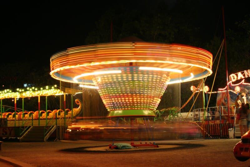 nocy karnawałowe przejażdżkę obraz stock