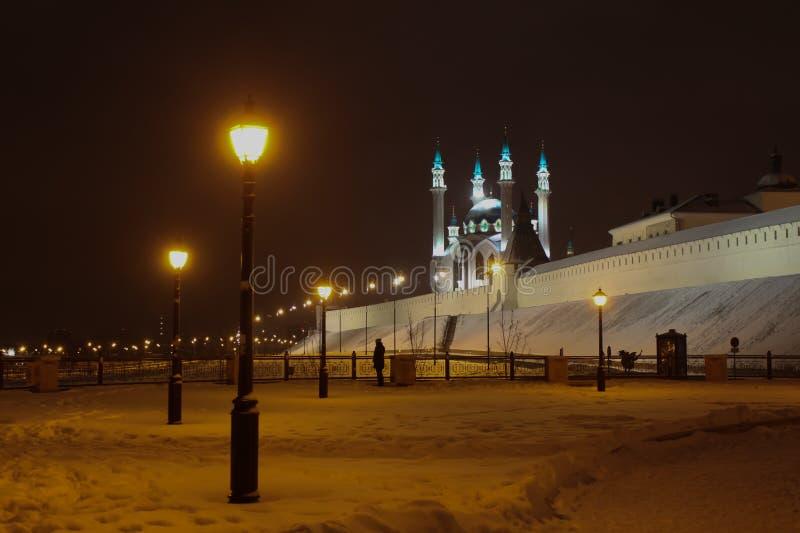 nocy Kazan pejzaż miejski fotografia royalty free
