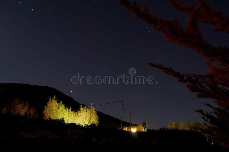Nocy krajobrazowa fotografia przy patagonia fotografia stock