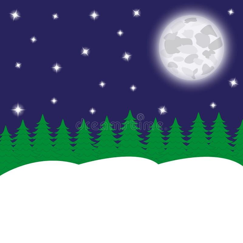 Nocy księżyc i ilustracji