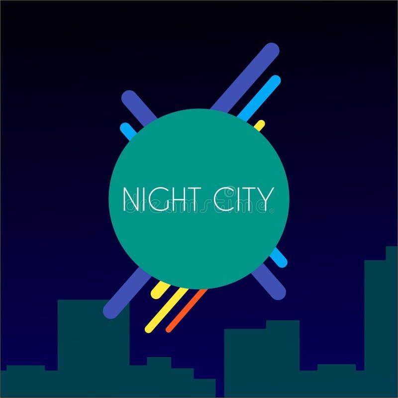 Nocy miasta tła relaksująca abstrakcjonistyczna tapeta royalty ilustracja