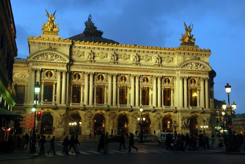Nocy opera Paryż, Francja zdjęcie stock