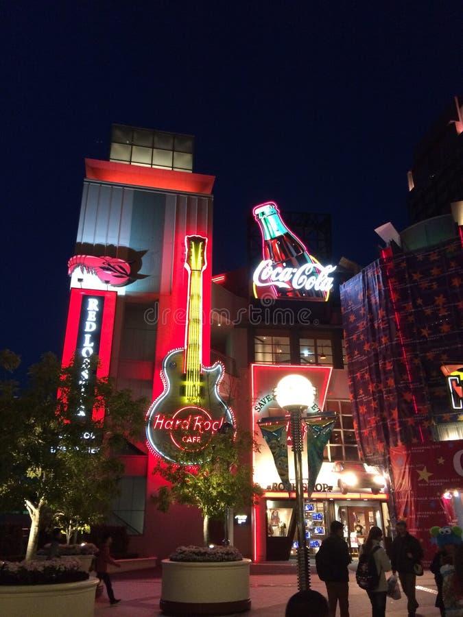 Nocy Osaka Kansai Japonia Lekka podróż obraz royalty free