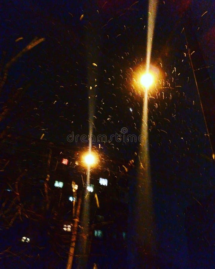Nocy płatek śniegu fotografia stock