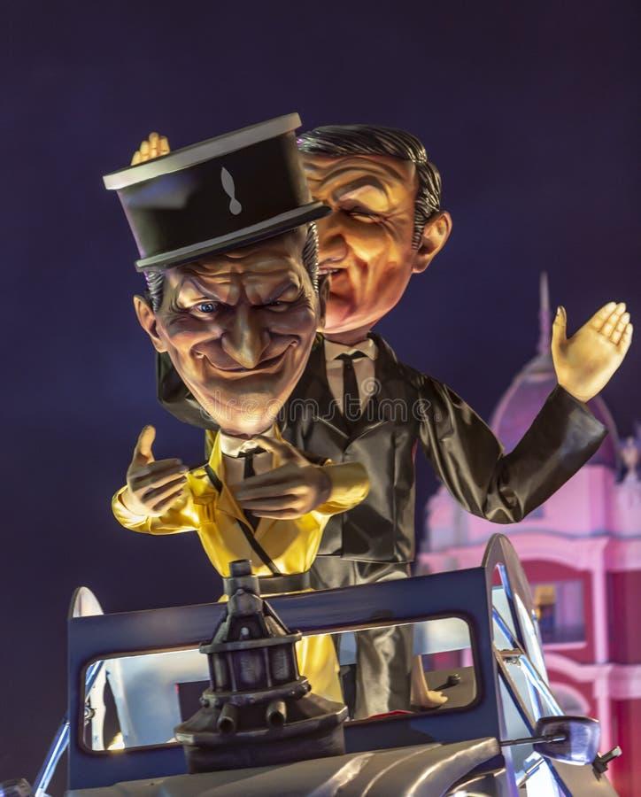 Nocy parada - Carnaval De Ładny 2019 zdjęcie stock