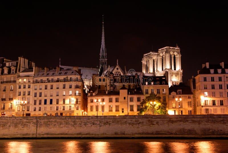 nocy Paris linia horyzontu obrazy stock