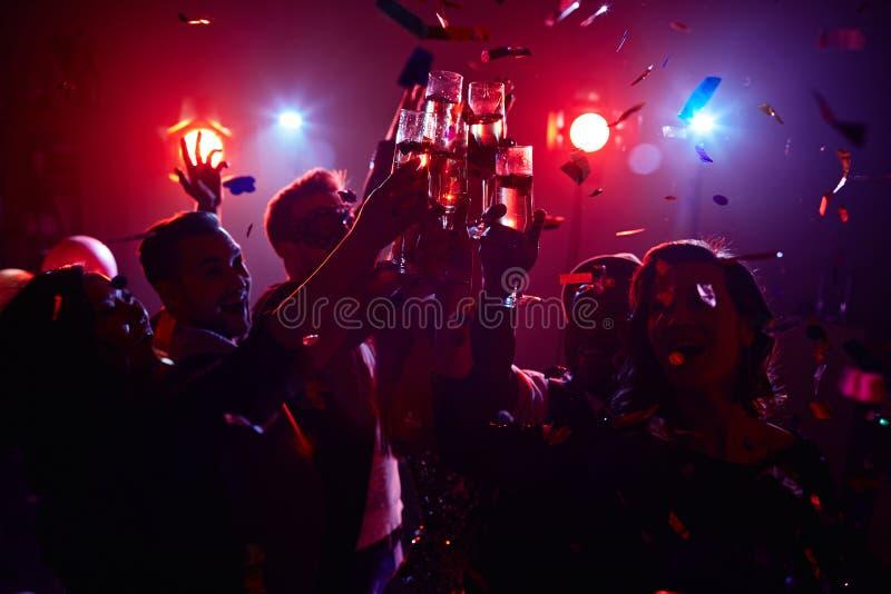 Nocy przyjęcie zdjęcia royalty free