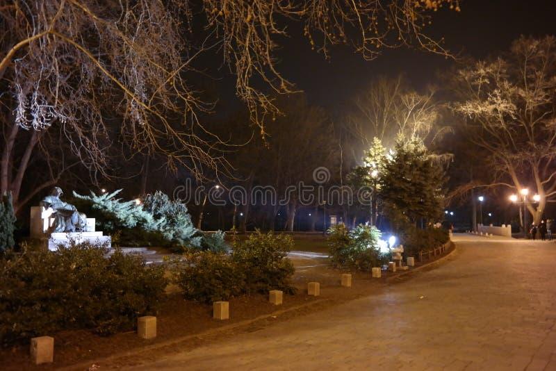 Nocy scena Vajdahunyad kasztel 3, Budapest, Węgry obrazy royalty free