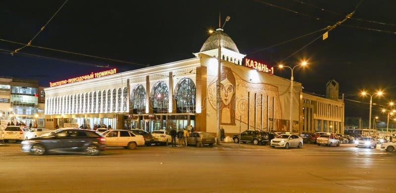 Nocy scena w Kazan, federacja rosyjska obraz royalty free