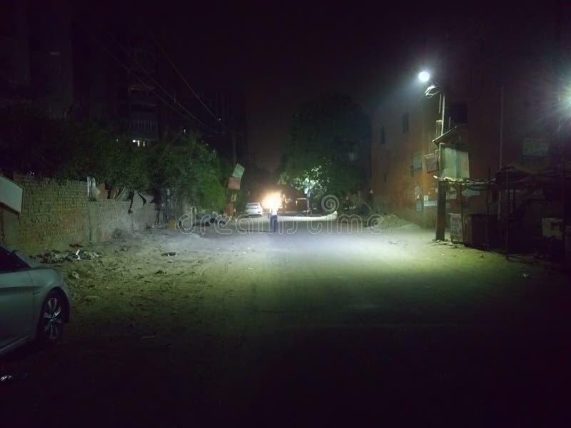 Nocy sceny latarnia uliczna obrazy stock