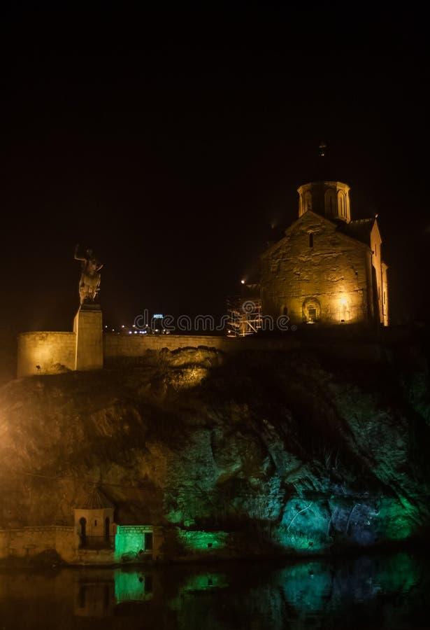 Nocy sceny Tbilisi obraz stock