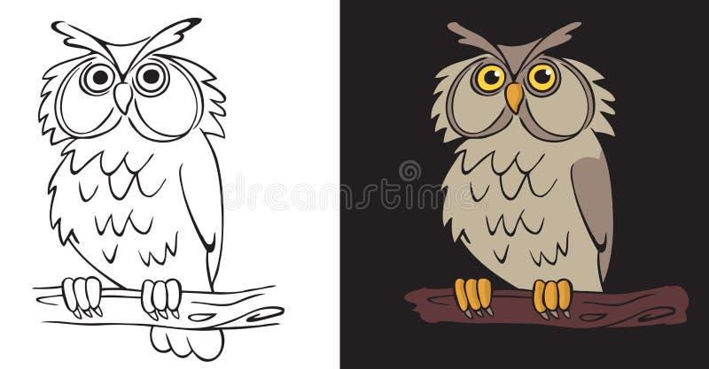 Nocy sowa ilustracji