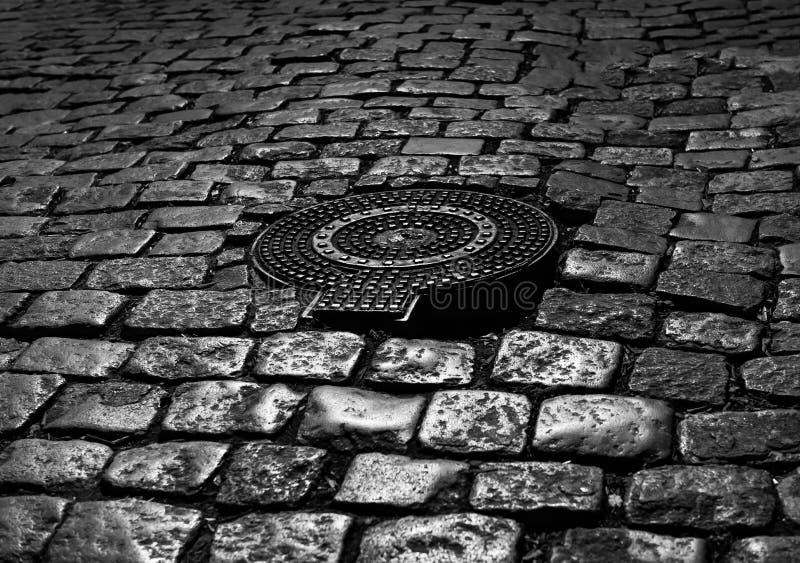 nocy stara street fotografia royalty free