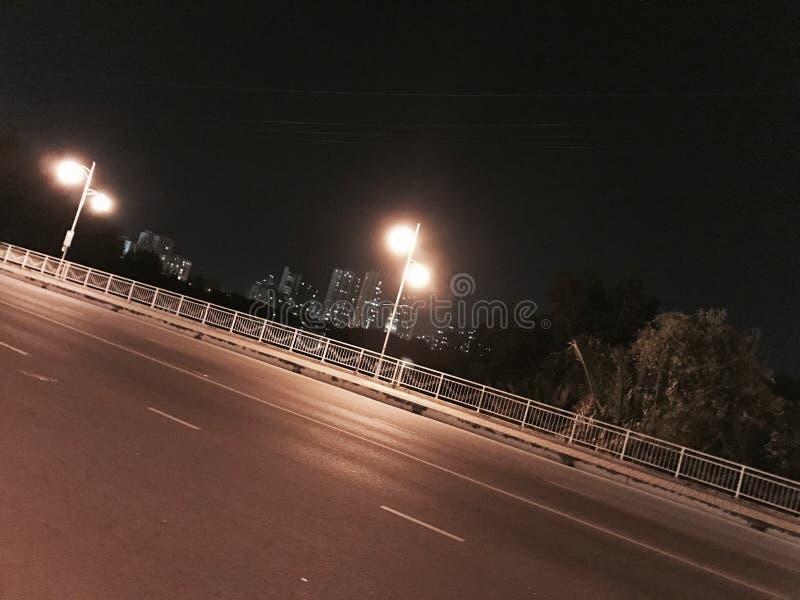 Nocy ulica w Ho Chi Minh mieście obraz stock