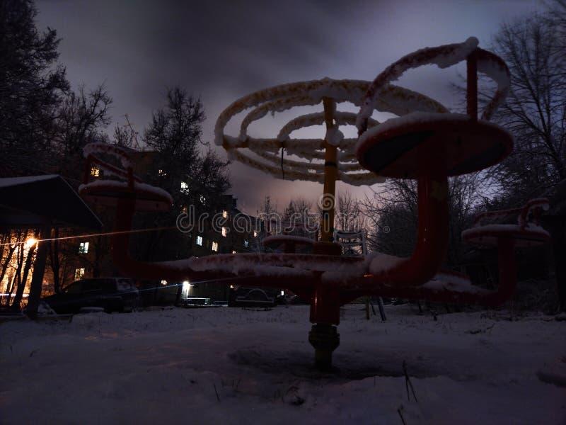 Nocy zima fotografia stock