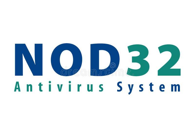 Nod 32 Logo. Antivirus JPG format avaliable White background stock illustration