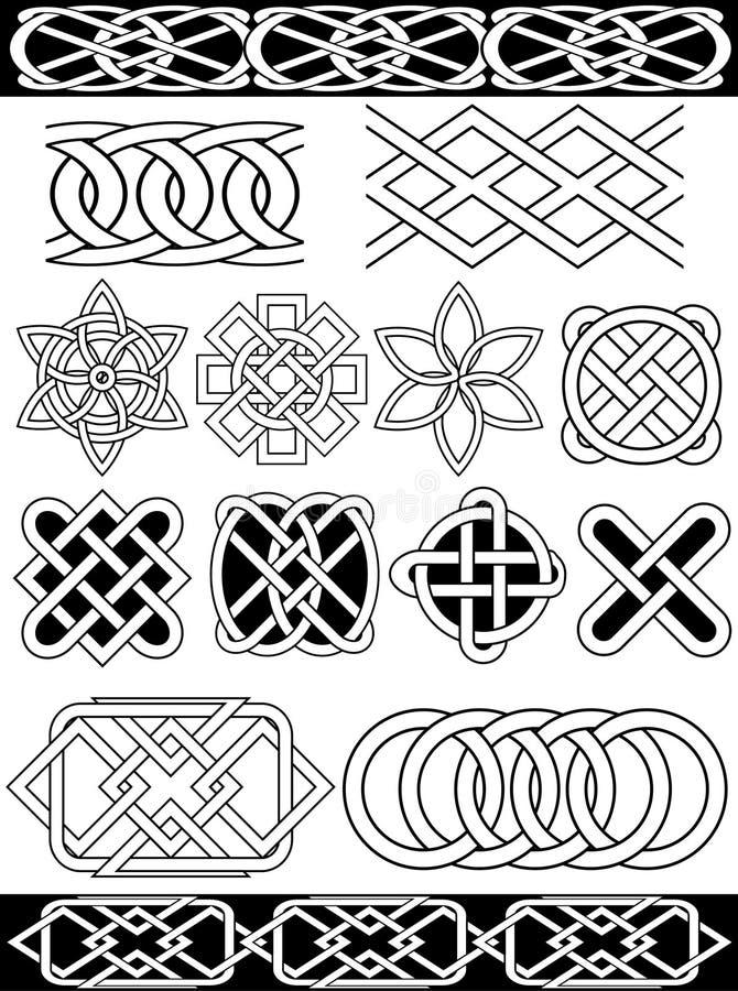 Nodi del celtic di vettore illustrazione di stock