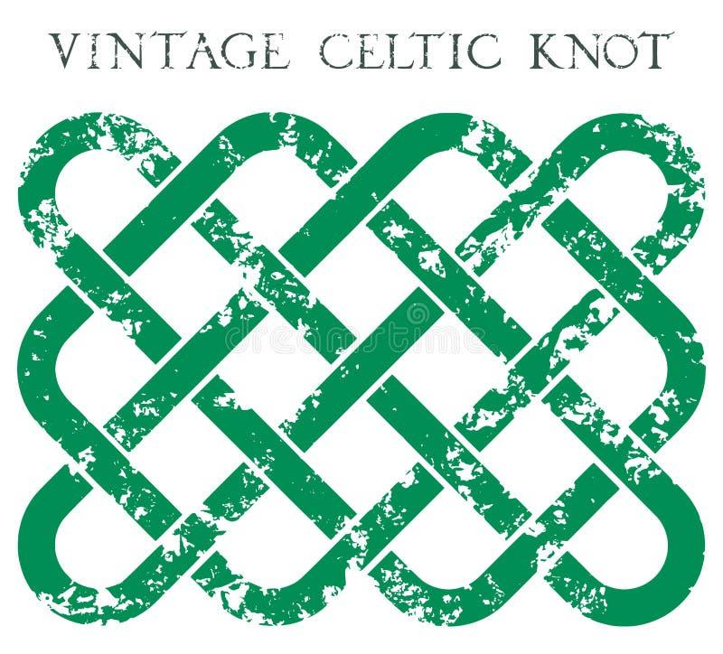 Nodo celtico d'annata illustrazione vettoriale