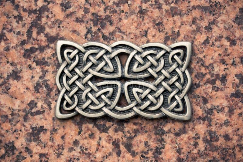 Nodo del celtico della colata del ferro immagine stock libera da diritti
