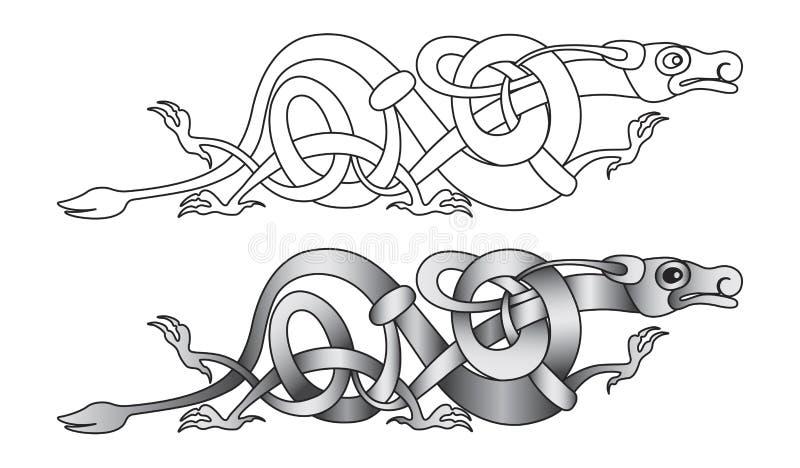 Nodo del drago illustrazione di stock