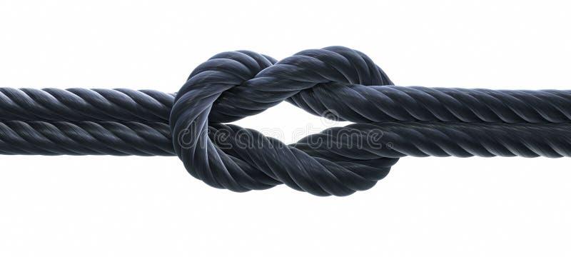 Nodo di scogliera o nodo quadrato - illustrazione 3D illustrazione di stock
