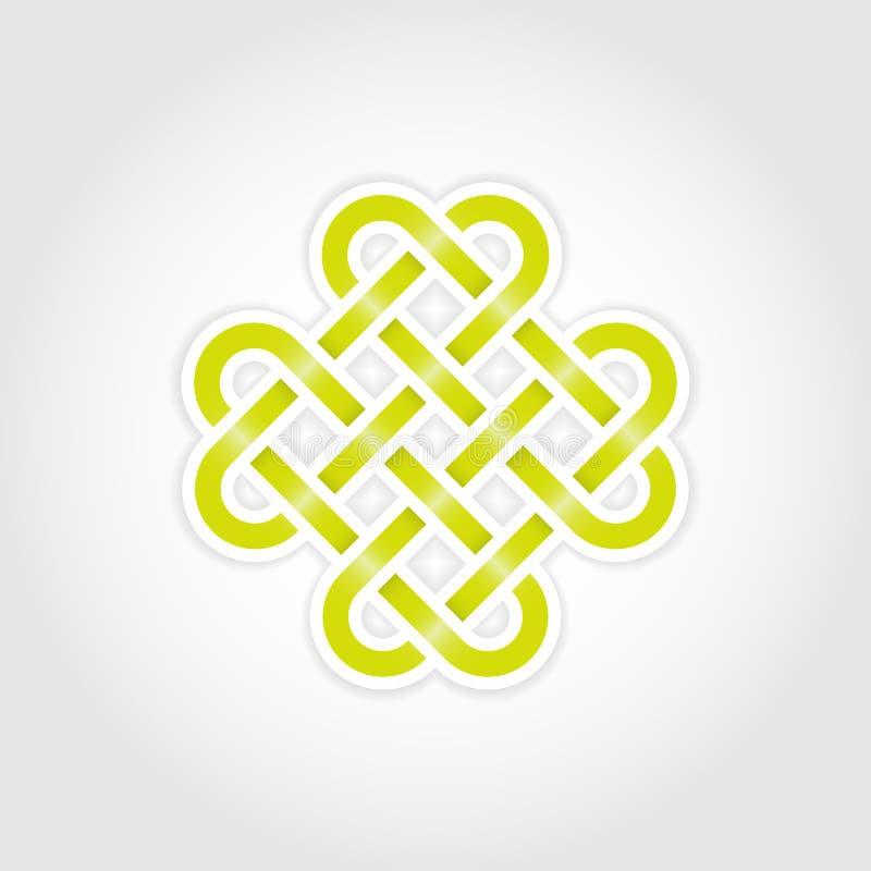 Nodo eterno verde illustrazione vettoriale