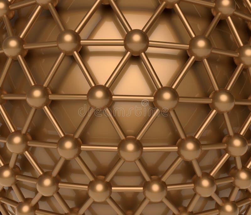 Nodos abstractos - concepto de las conexiones libre illustration