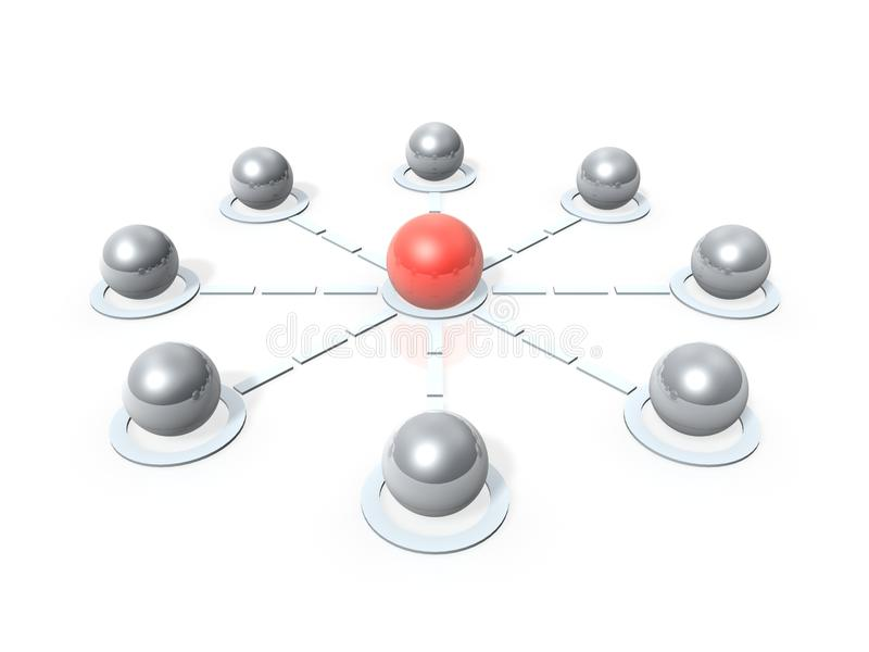 Nodos de la comunicación ilustración del vector