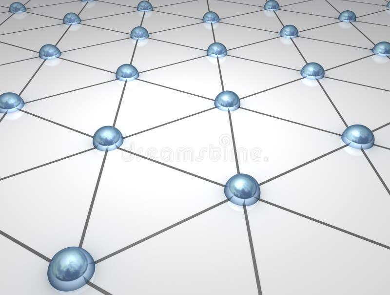 nodos de red atómicos 3D stock de ilustración