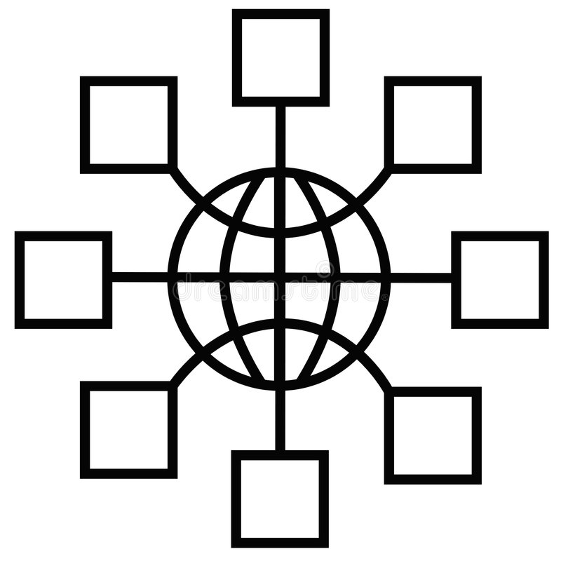 Nodos de red global ilustración del vector
