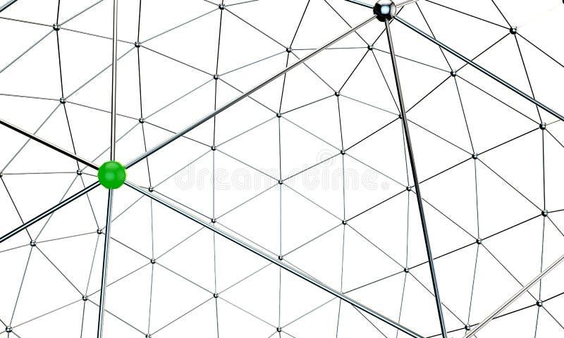 Nodos metálicos stock de ilustración