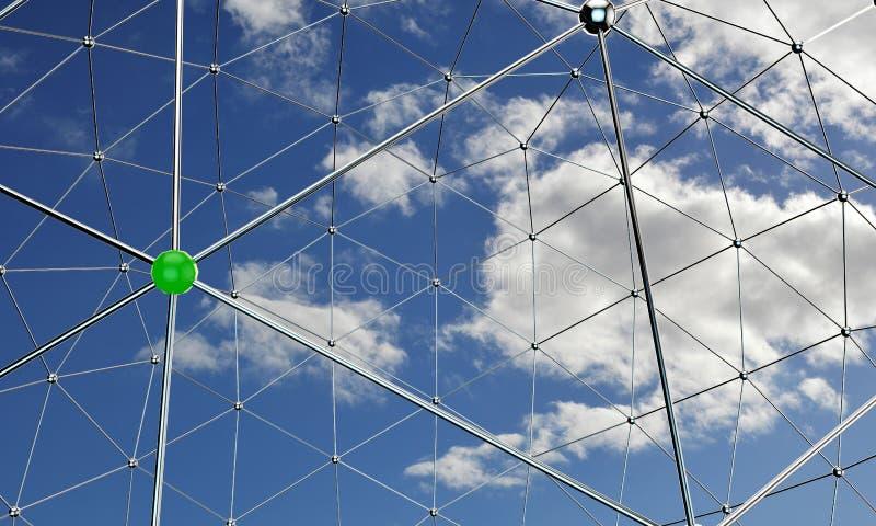 Nodos metálicos ilustración del vector