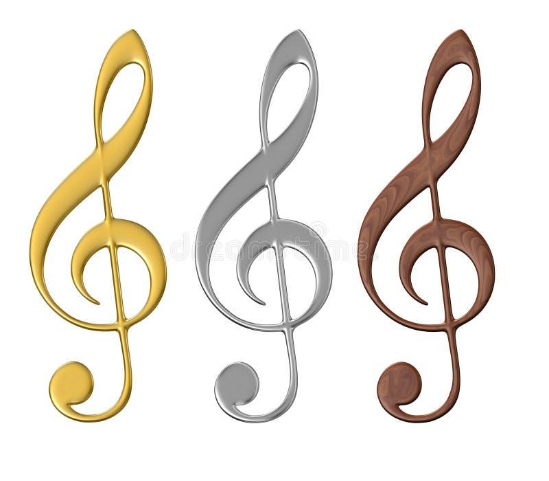 Nodos musicales - aislados stock de ilustración