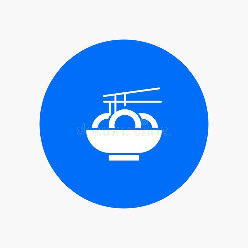 Noedel, Voedsel, China, het pictogram van zinkwitglyph vector illustratie