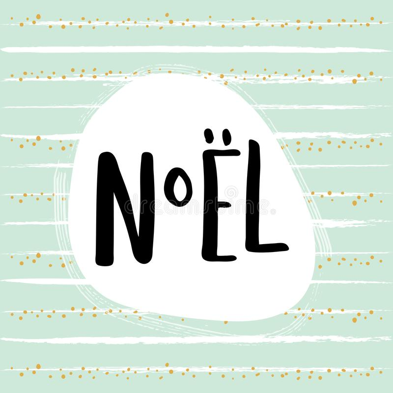 Noel Card lizenzfreie abbildung