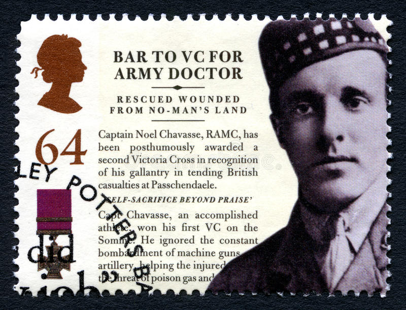 Noel Chavasse VC Postage Stamp from the UK stock photos