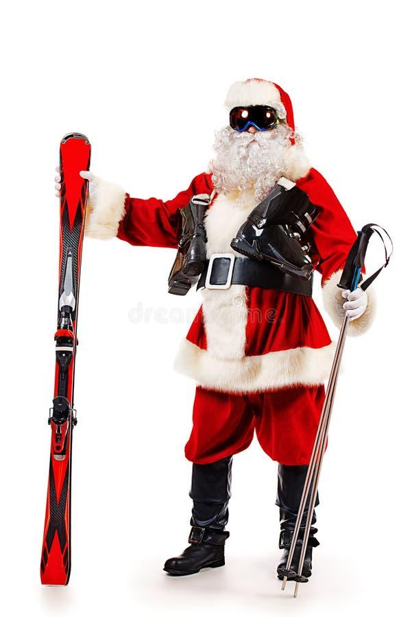 noel del Montaña-esquiador imagen de archivo libre de regalías