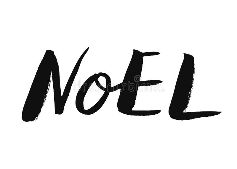 Noel-Handbeschriftung stock abbildung
