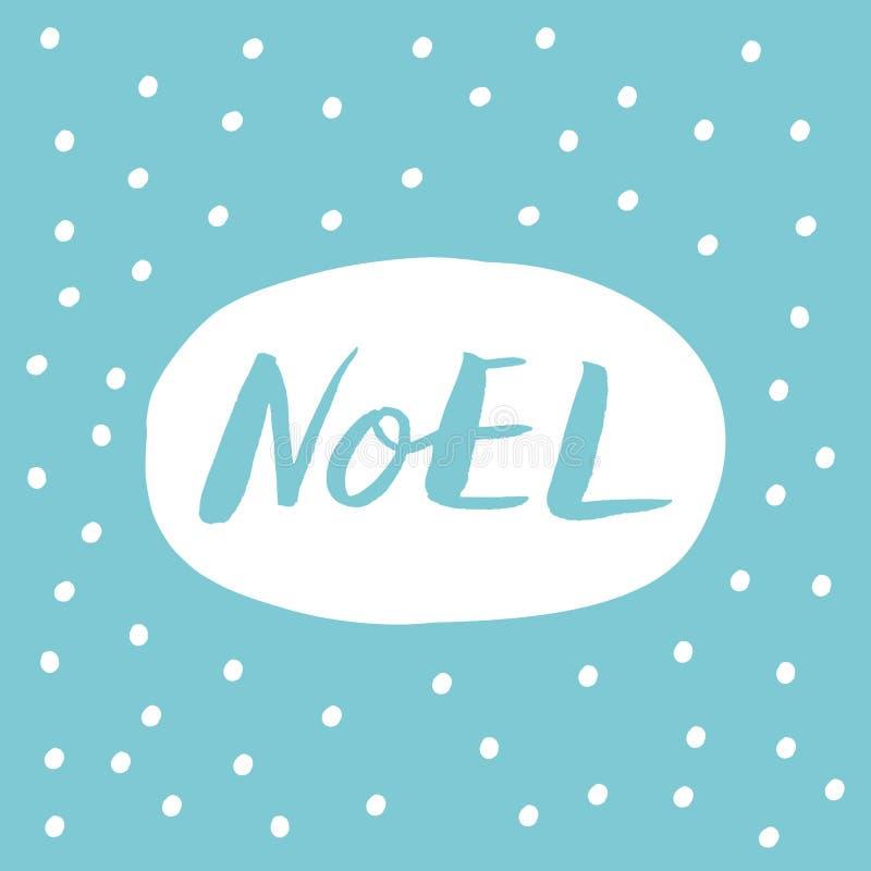 Noel-Handbeschriftung vektor abbildung