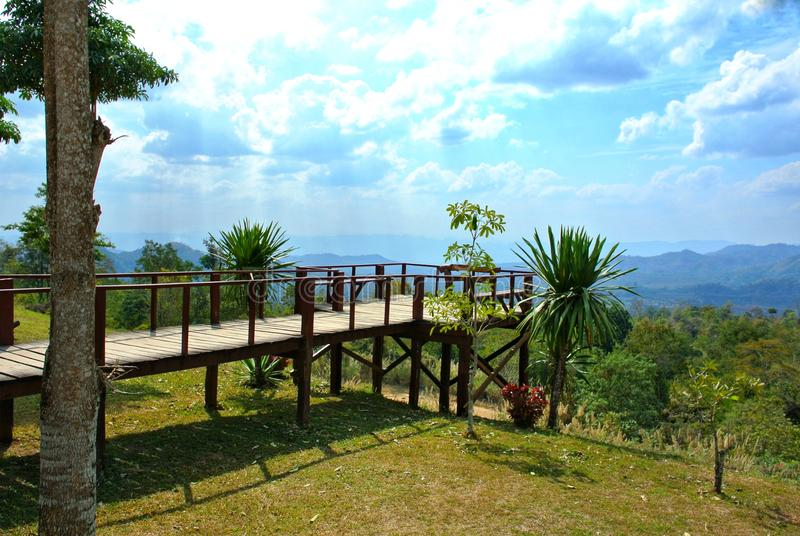 Noen Sawan Viewpoint, Srinakarin National Park, Kanchanaburi Province, Thailand stock photos