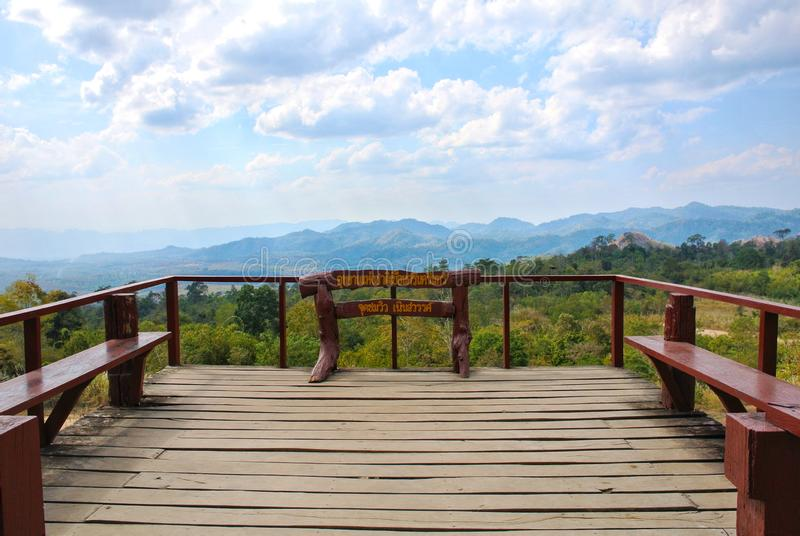 Noen Sawan Viewpoint, Srinakarin National Park, Kanchanaburi Province, Thailand royalty free stock photo